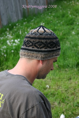 R. Darling\'s Fake-Isle Hat - Side view