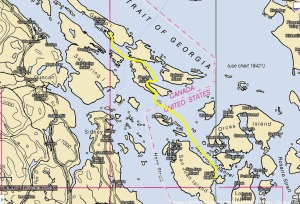 Gulf Islands Trip - Route for Day 2