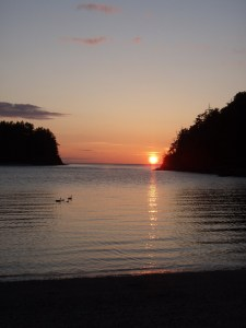 Sunset on Sucia Island