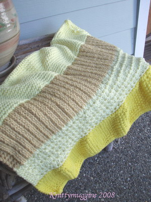 "My first Warm Woolies Oddball Baby Blanket - ""Lemon Zinger"""